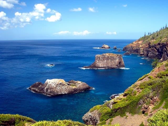 cliff rocks ocean sea