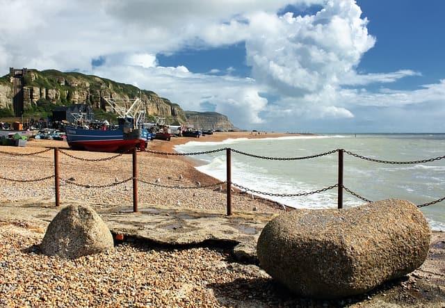 hastings beach coast england