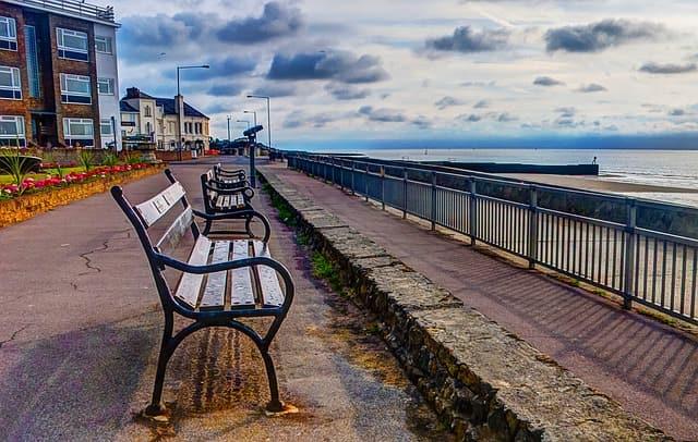 Walton On The Naze Bench Coast Sea Sky Beach